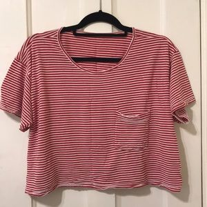 american apparel cropped boxy tee
